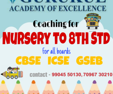 Tuition Class for CBSE, ICSE, GSEB