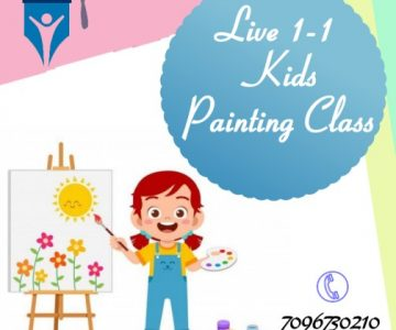 Live 1-1 Kids Painting Class